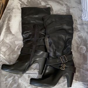 Bronx So Today Black Heeled Boots